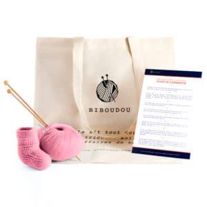 kit biboudou chausson rose