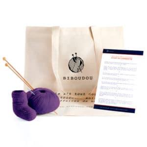 kit biboudou chausson violet