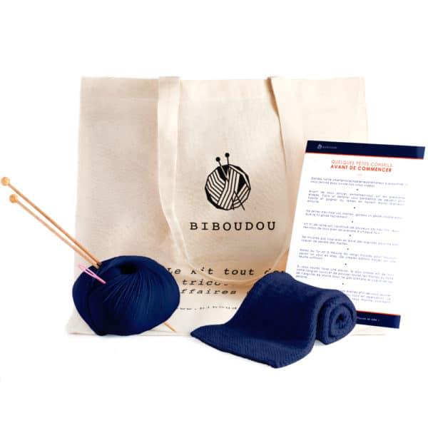 kit écharpe biboudou bleu marine