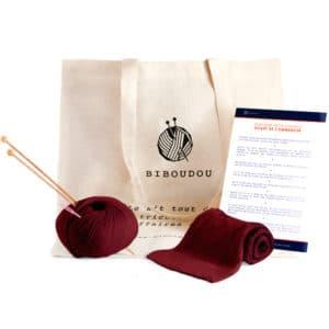 kit écharpe biboudou bordeaux