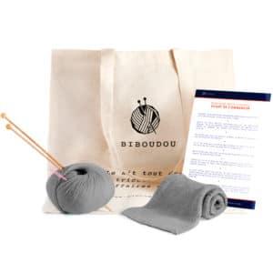 kit écharpe biboudou gris