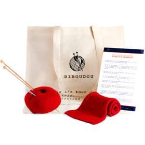kit écharpe biboudou rouge