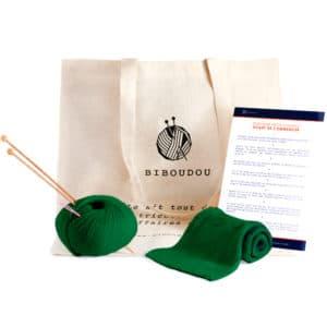 kit écharpe biboudou vert sapin